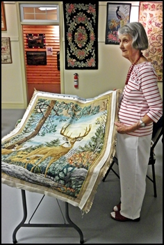 Shirley Hiltz with Rug